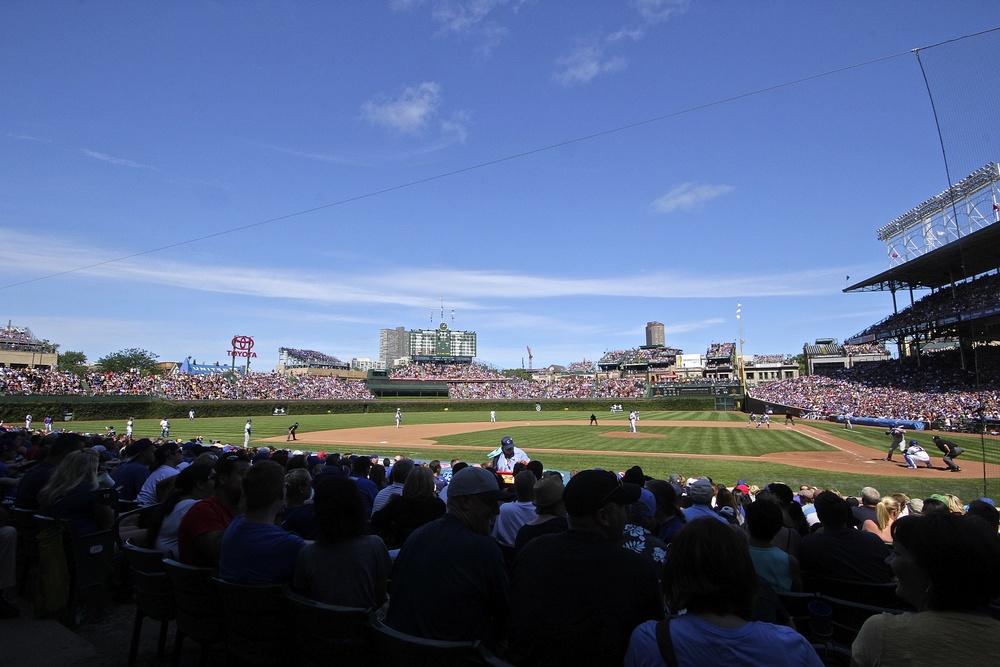 Packed house at the Friendly Confines