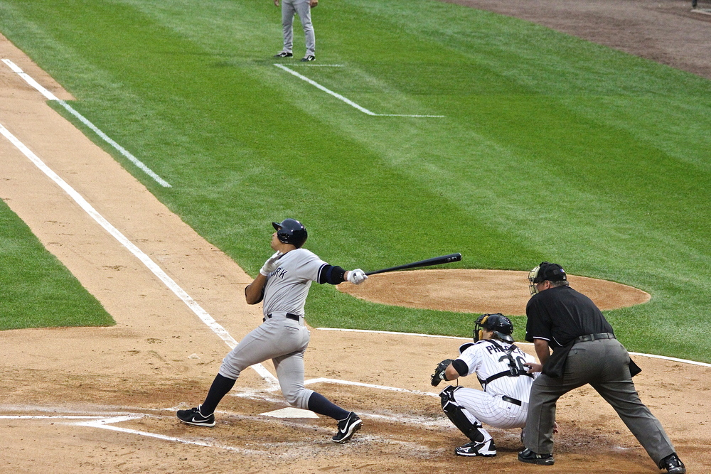 Alex Rodriguez's first at bat of the season