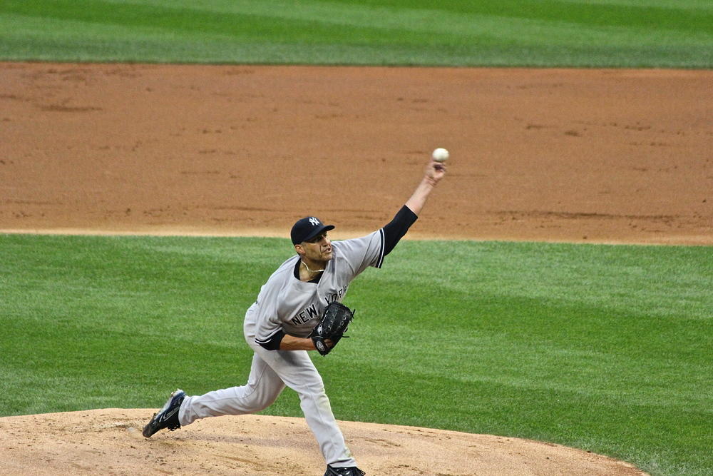 Andy Pettitte throws one in