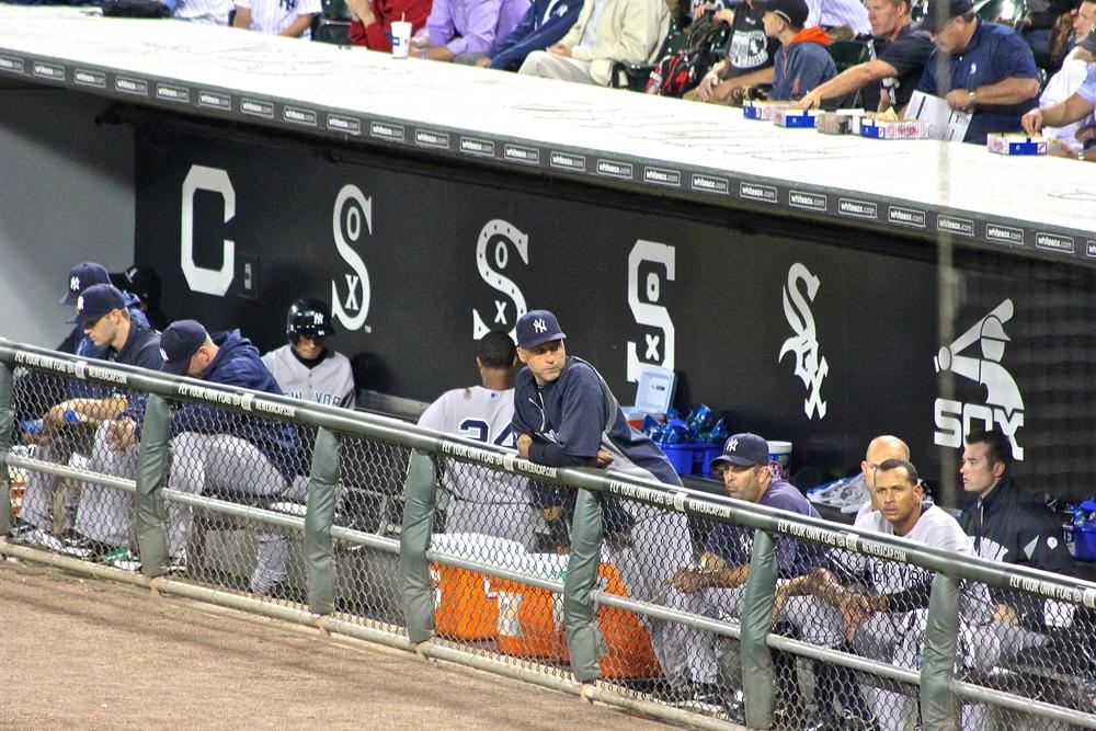 Yankees dugout