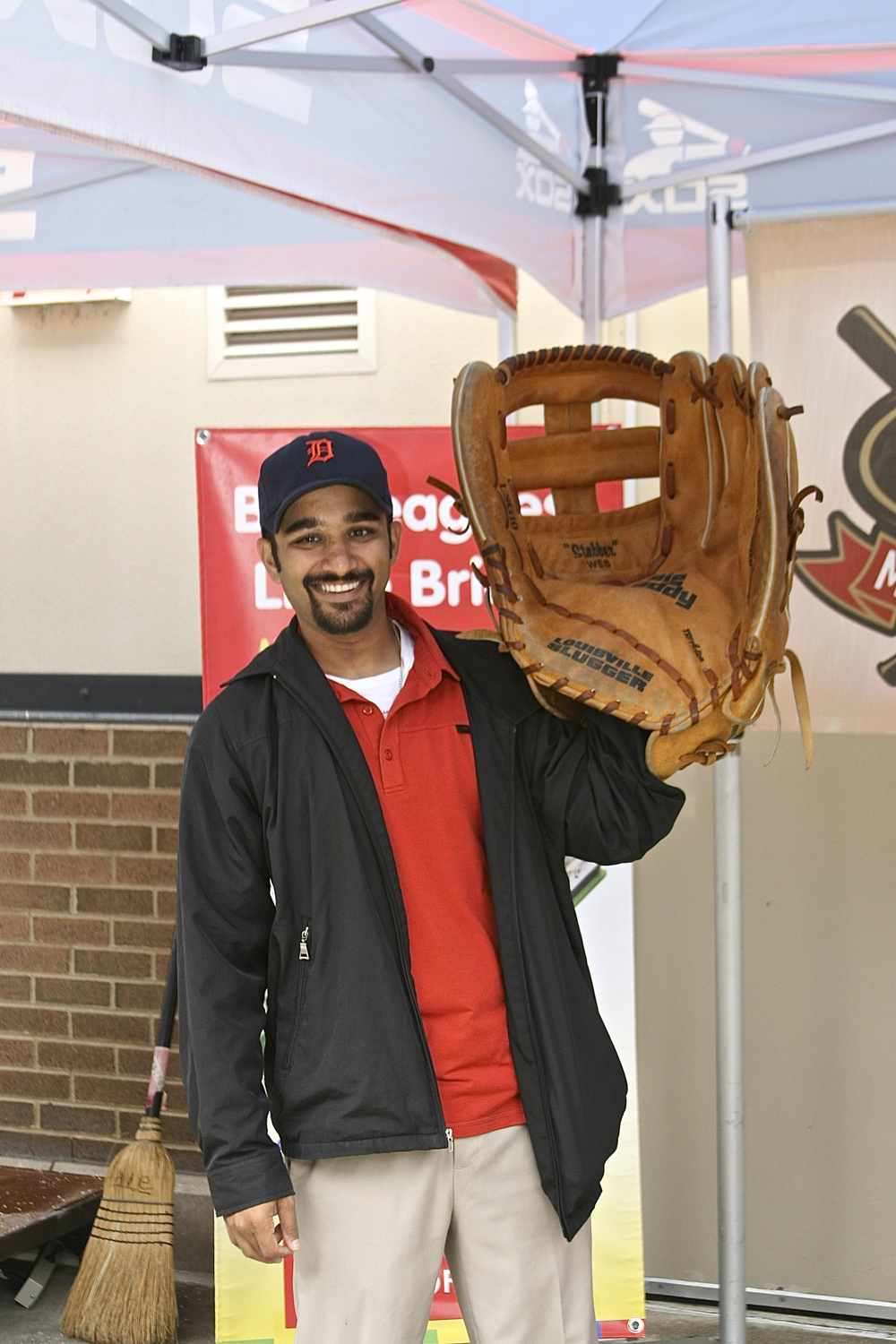 Me and a giant glove