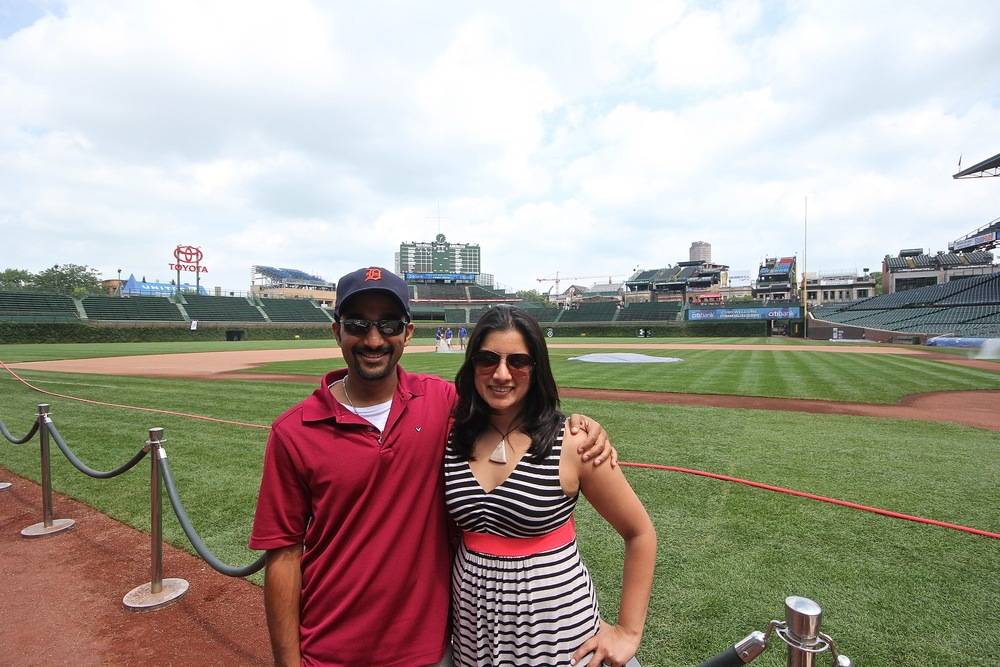 Me and my sister on Wrigley Field