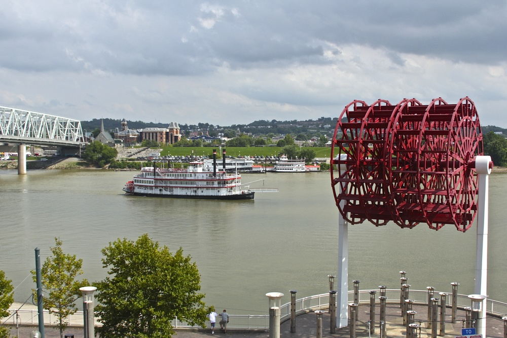 Riverboat in the distance