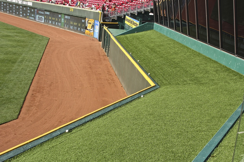 Lonely balls over the center field wall