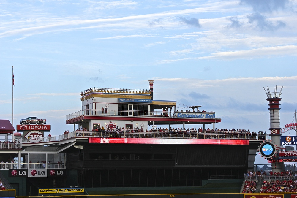Riverboat in centerfield