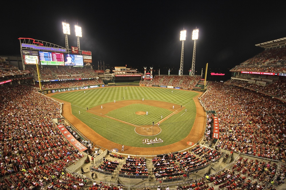 Great American Ballpark night