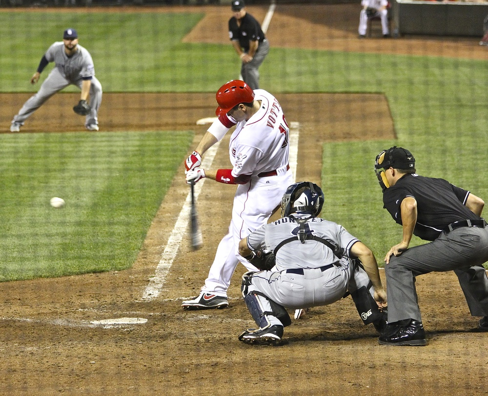 Joey Votto takes a hack