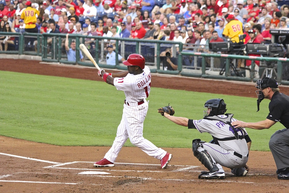 Jimmy Rollins base hit