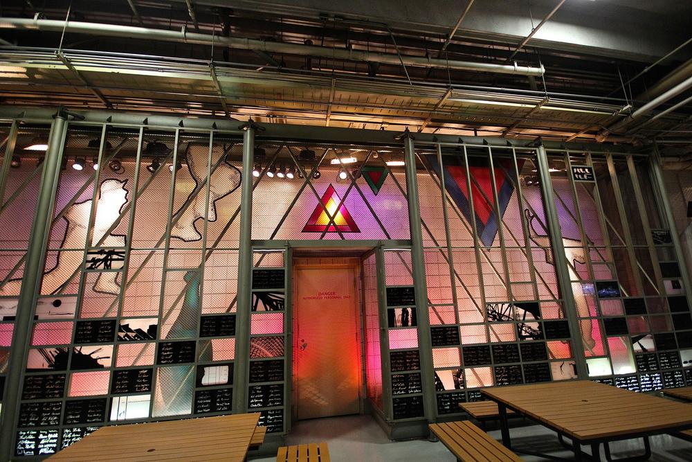 Art installation inside Rogers Centre