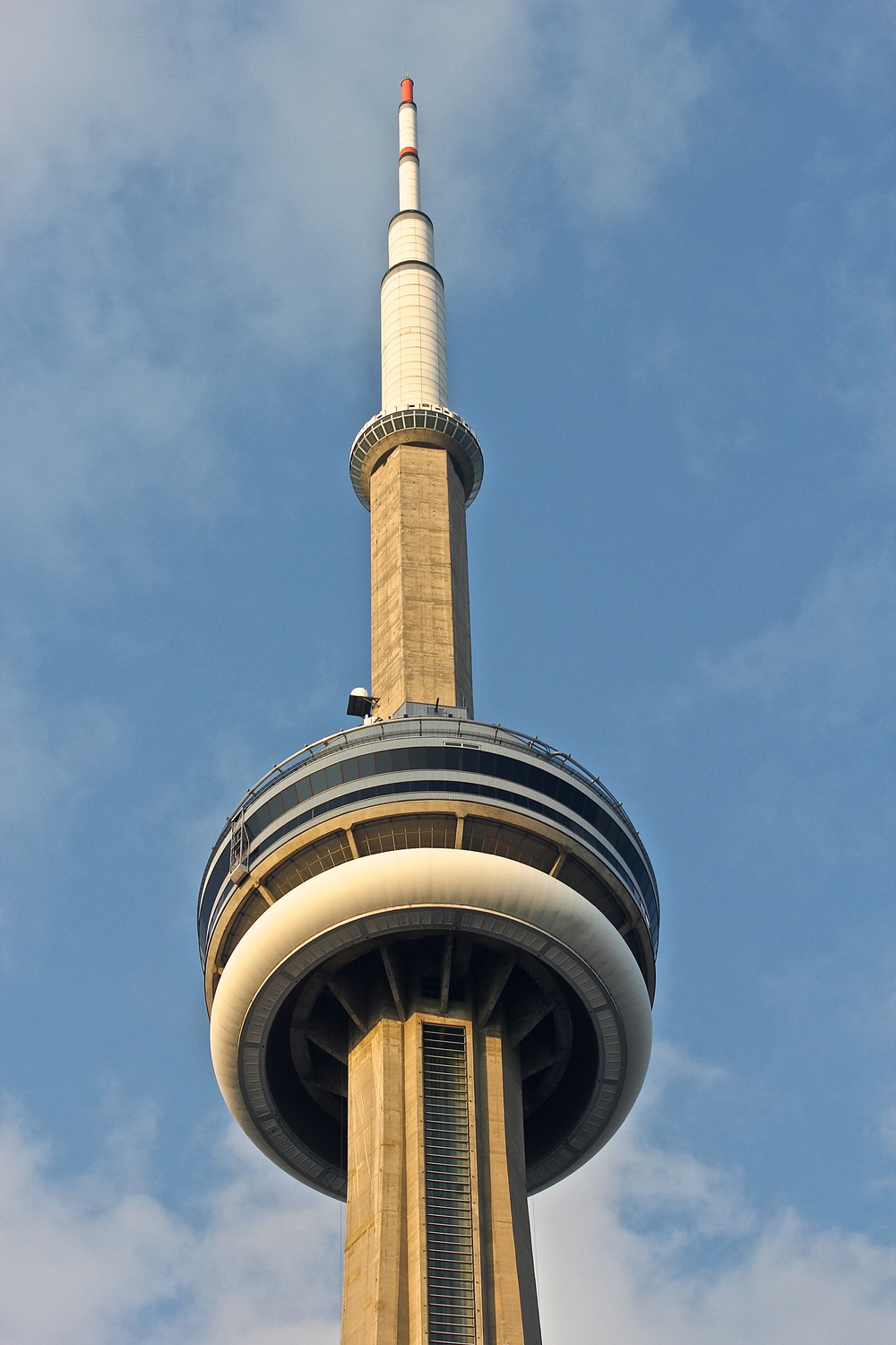 CN Tower from inside Rogers Centre