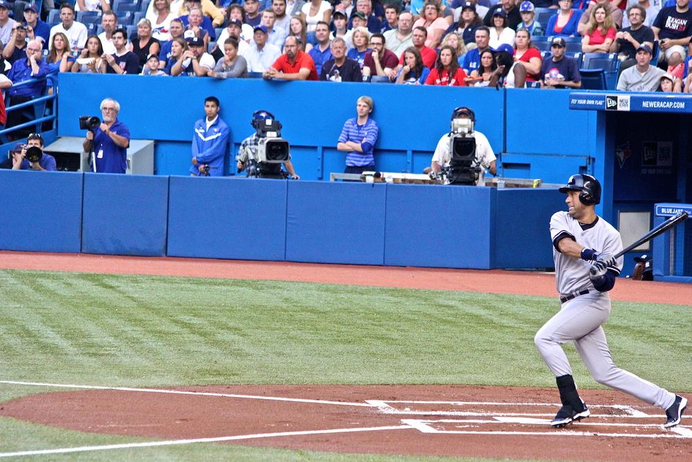 Derek Jeter's first at bat