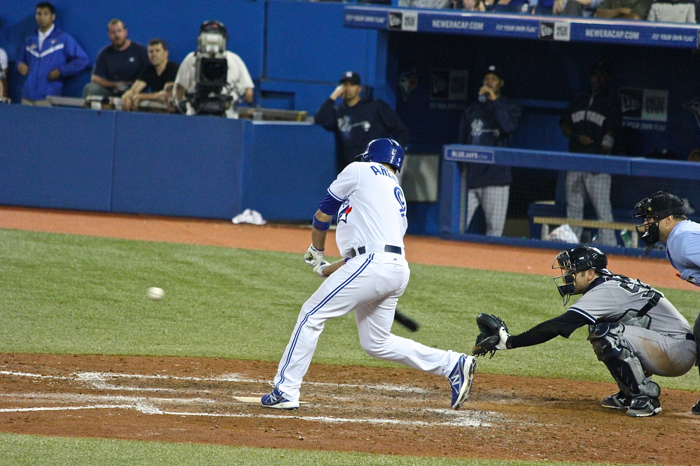 J.P. Arencibia comes off the bench