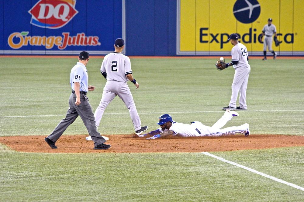 Jose Reyes slide safely into second