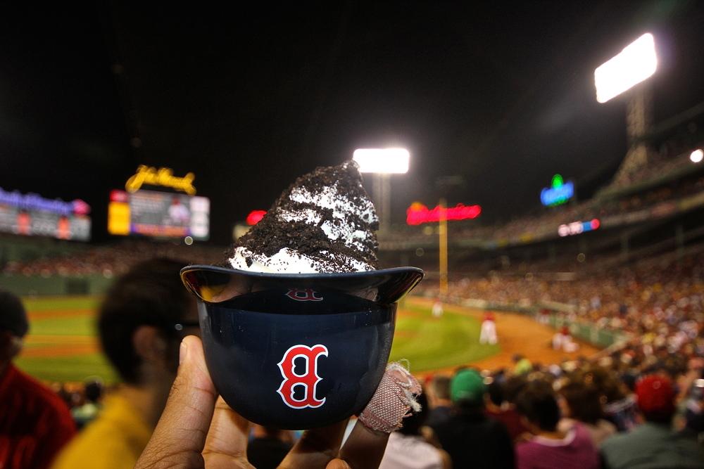 DIY Baseball helmet ice cream bowl
