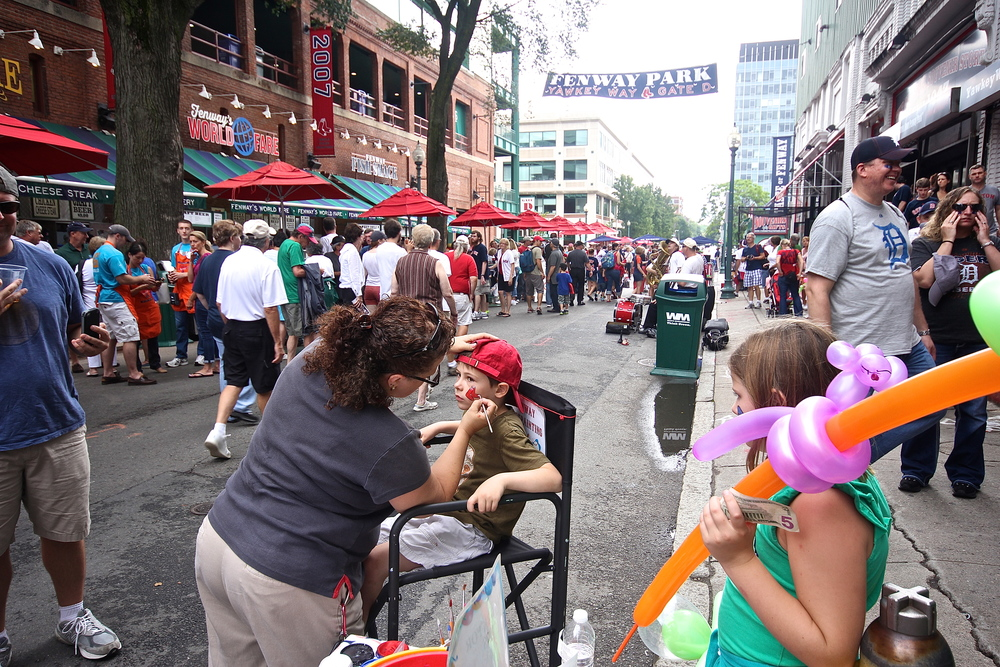 Face painting on Yawkey Way