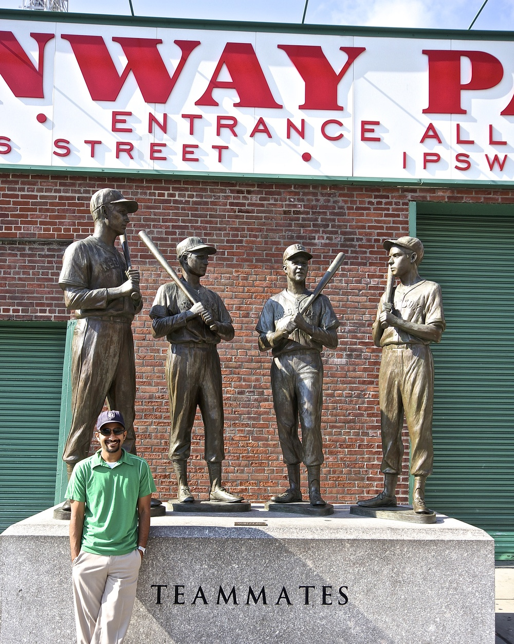 Me and the greats:  Ted Williams, Johnny Pesky, Bobby Doerr and Dom Dimaggio