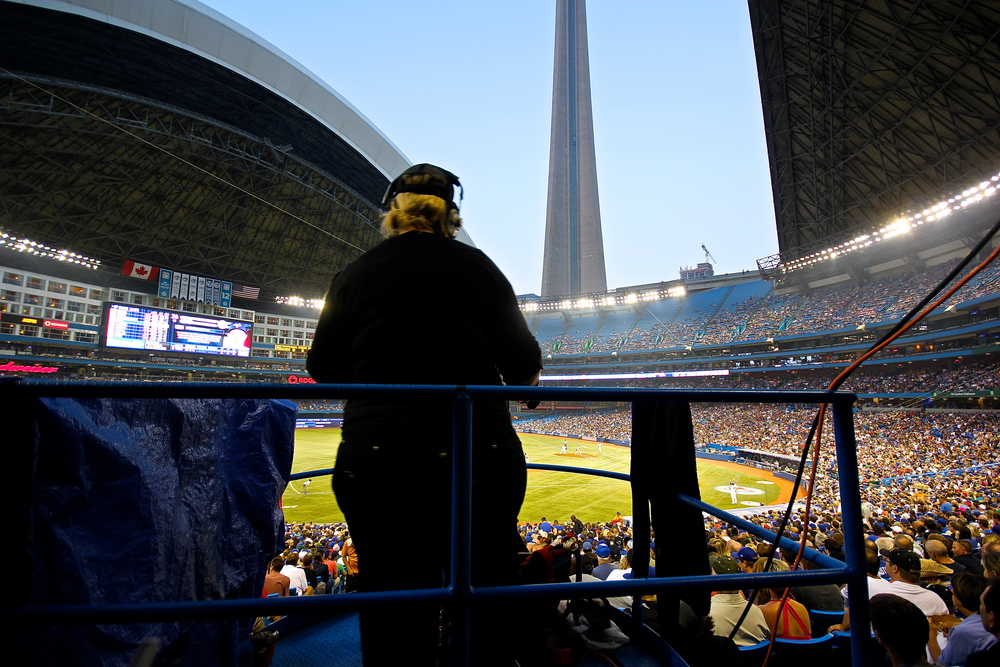 Rogers Centre camera woman
