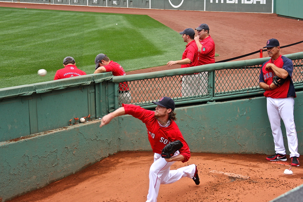 Clay Buchholz in the bullpen