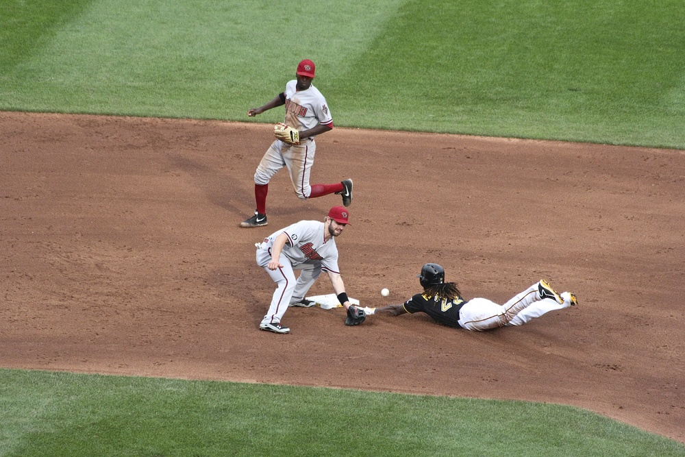 Andrew McCutchen safe at second