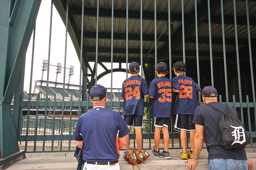 Peeking into Comerica Park