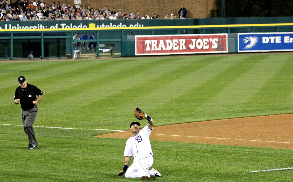 Miguel Cabrera with a sliding catch