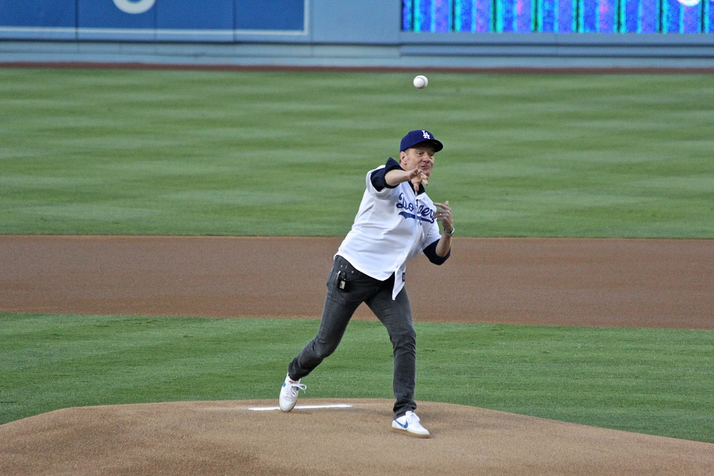 Bryan Cranston first pitch