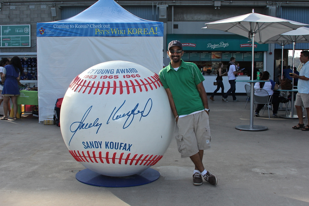 Me and Sandy Koufax ball