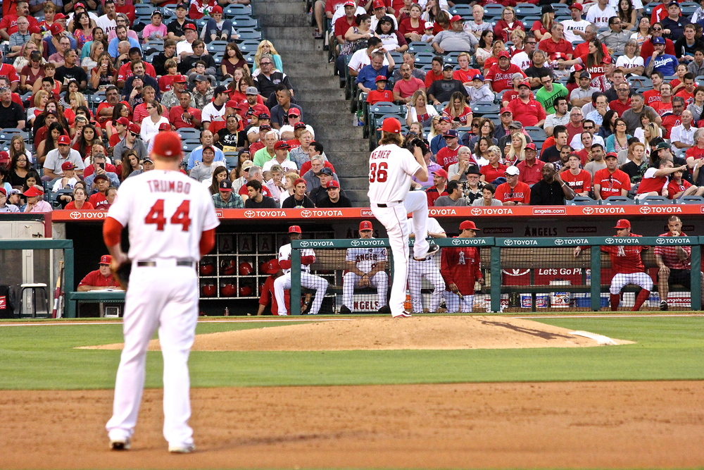 Mark Trumbo and Jered Weaver