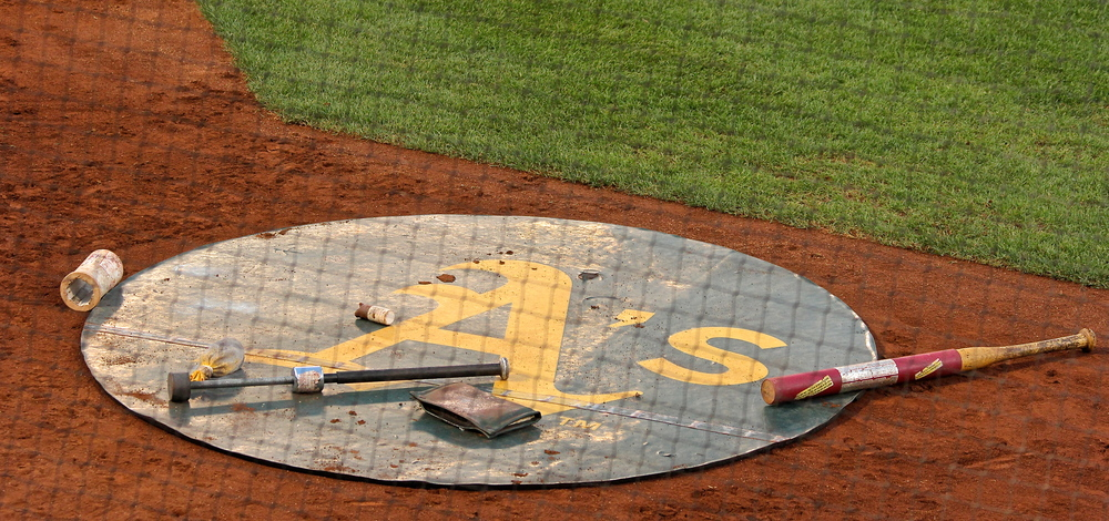 Athletics on deck circle