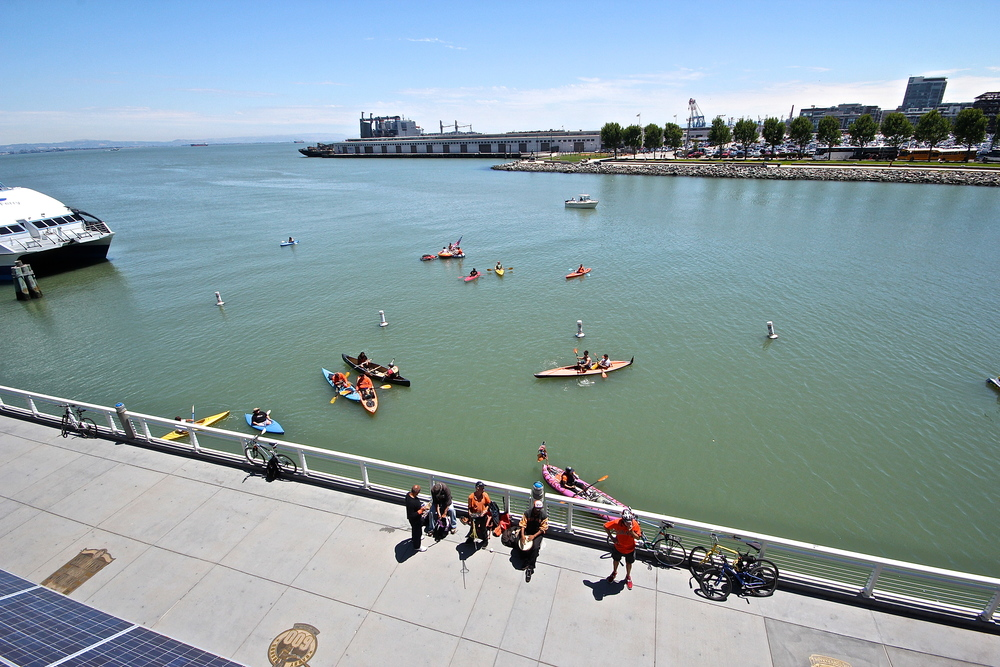 Kayakers in McCovey Cove
