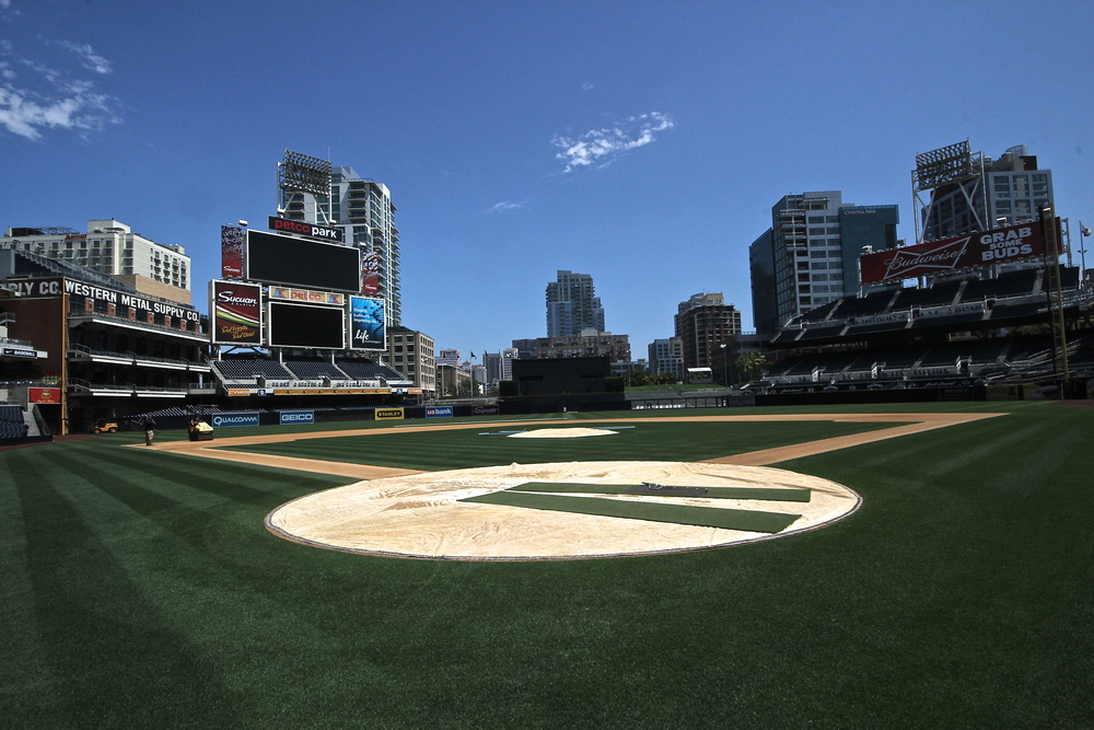 Petco Park from the field