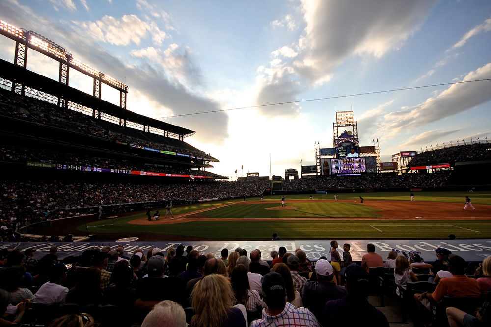 Coors Field at twilight