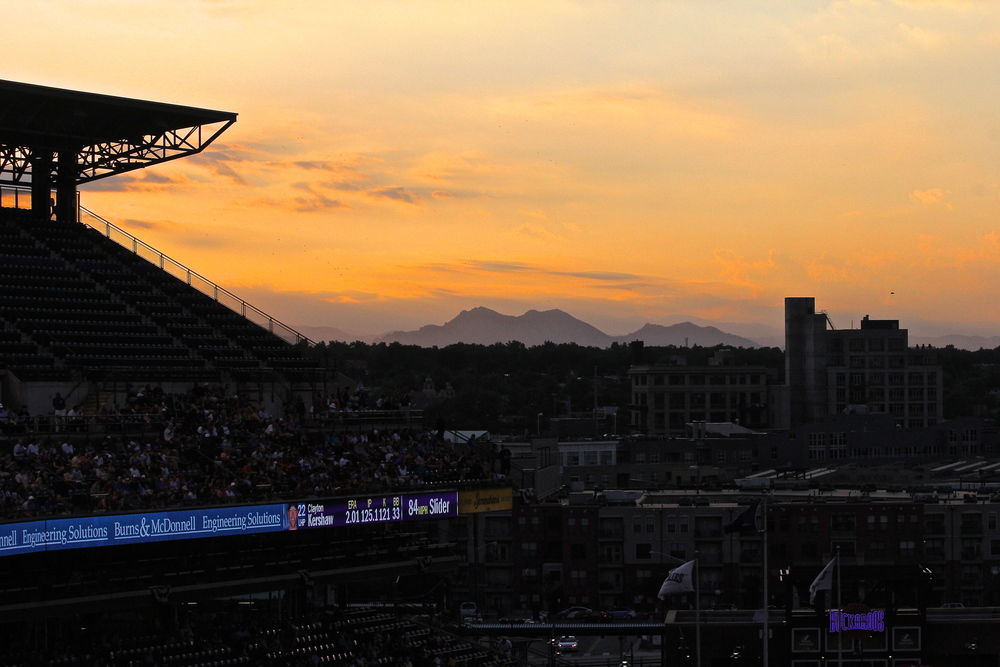 Rocky mountains from Coors Field
