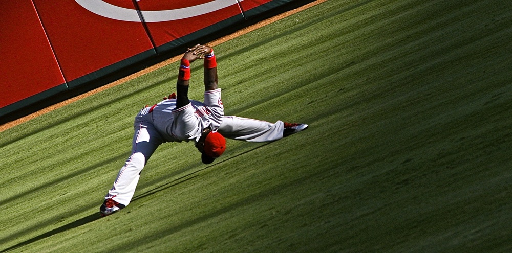 Brandon Phillips stretching