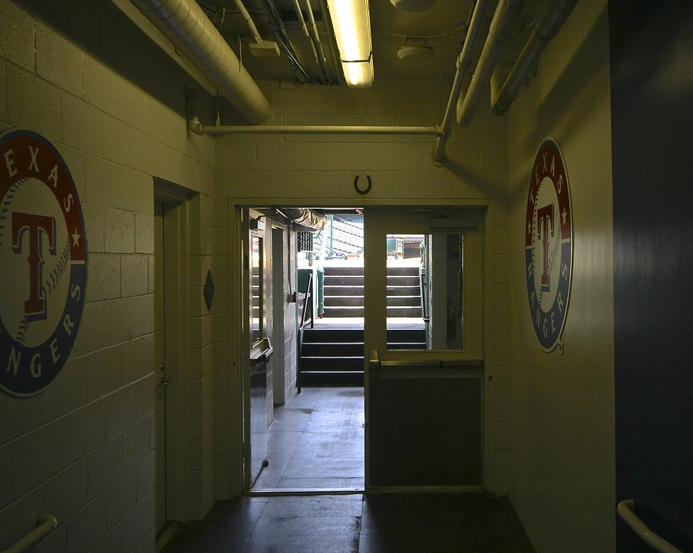 Entrance to field from Rangers clubhouse