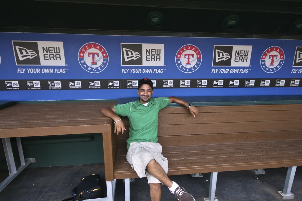 Me in the dugout