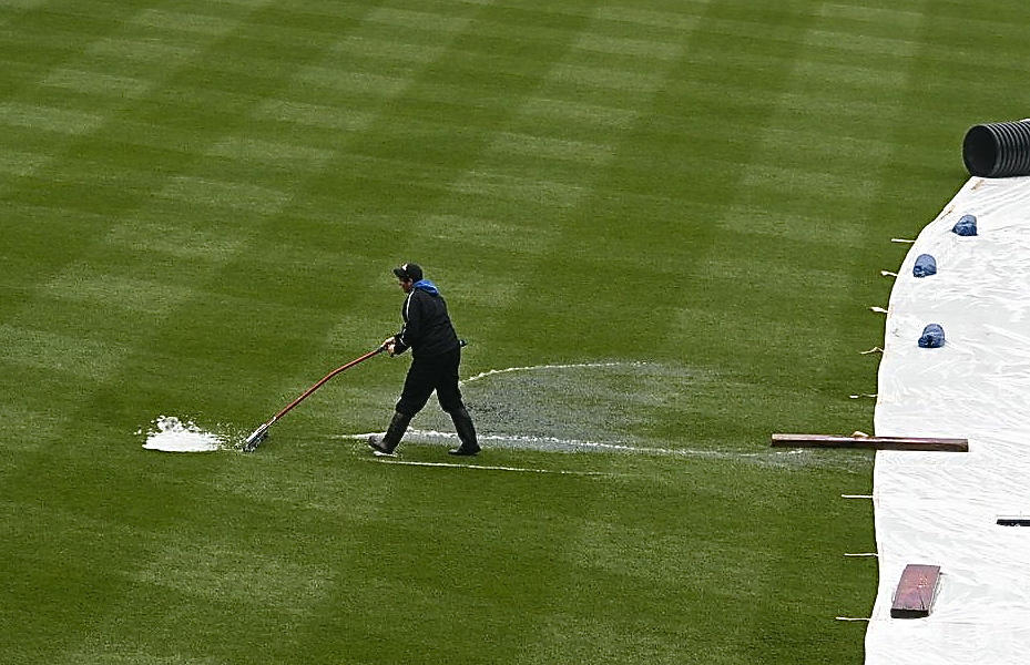 Sweeping the rain away