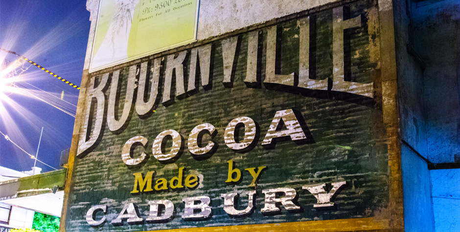 Cadbury Ghost Sign Malvern Vic Photoshoot