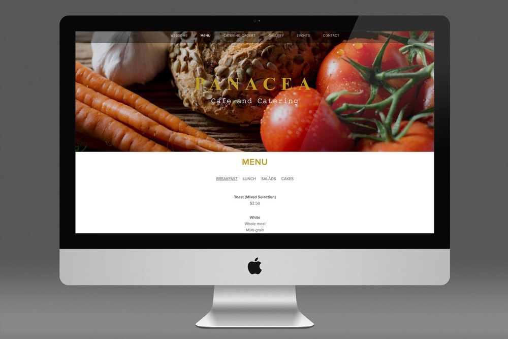 PANACEA CAFE  Web design, Branding, Strategy
