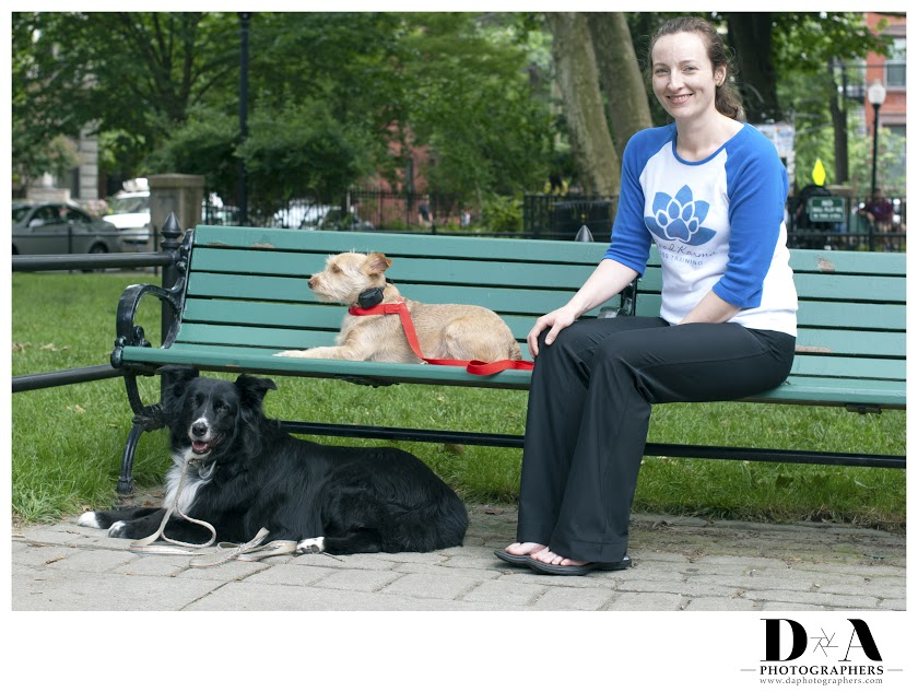 Karma, Milo, and I in Van Vorst Park, Jersey City, New Jersey.