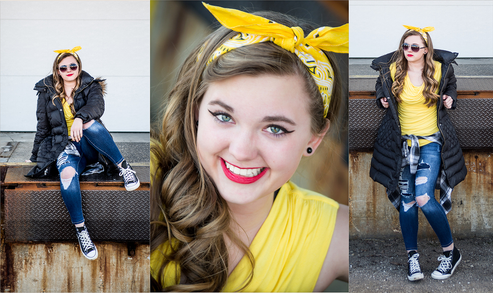 portage michigan senior pictures - yellow1