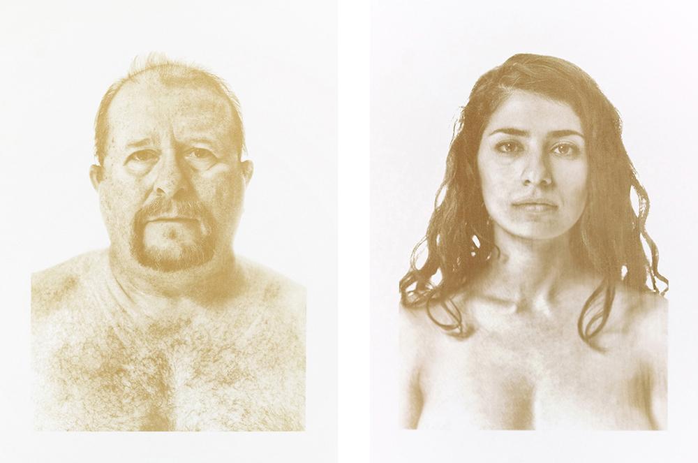 Blood Portrait Postdigital Post-digital post digital printmaking francesco fragomeni