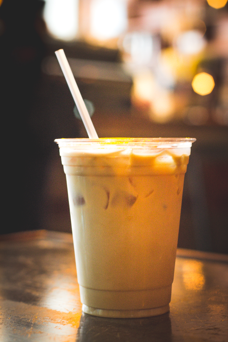 A delectable iced chai latte, at Panther coffee, a cool coffee house in Sunset Harbor, Miami Beach, FL.