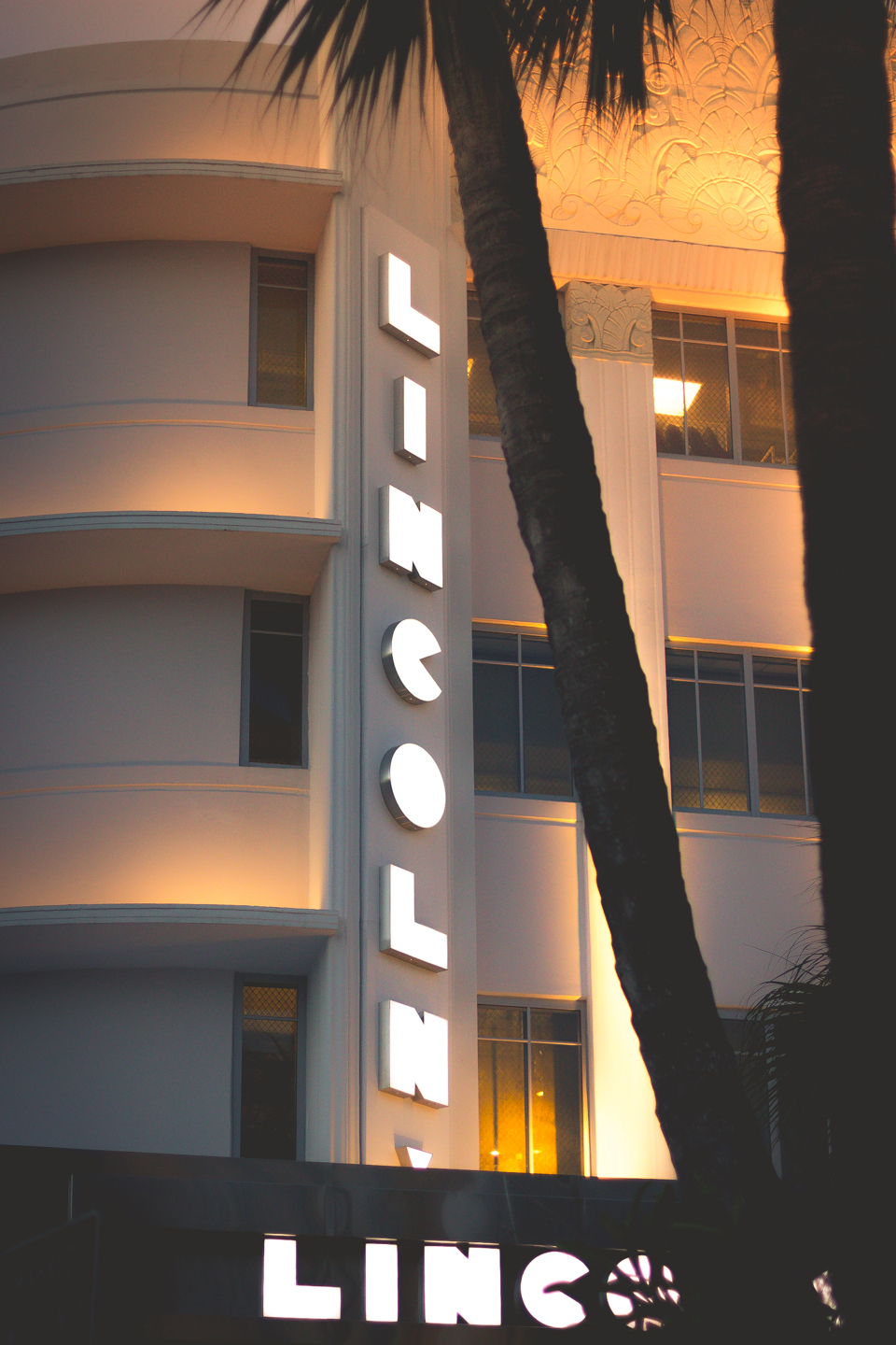 The Lincoln Theatre, a stunning example of art deco architecture, in Lincoln Road, Miami Beach, FL.