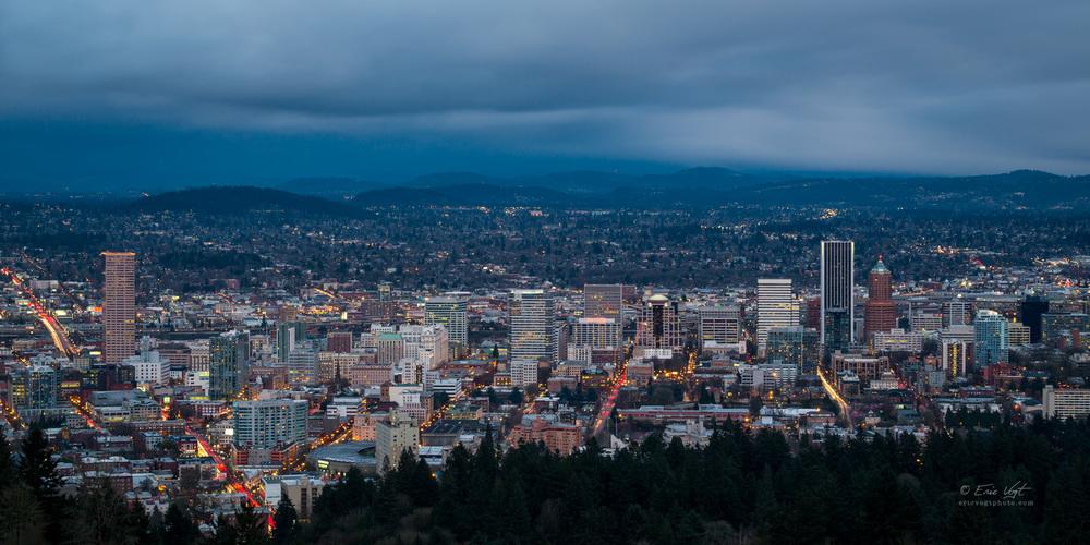 Portland Dusk, Long Exposure