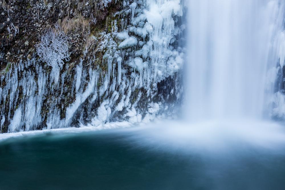 Icy Multnomah Closeup