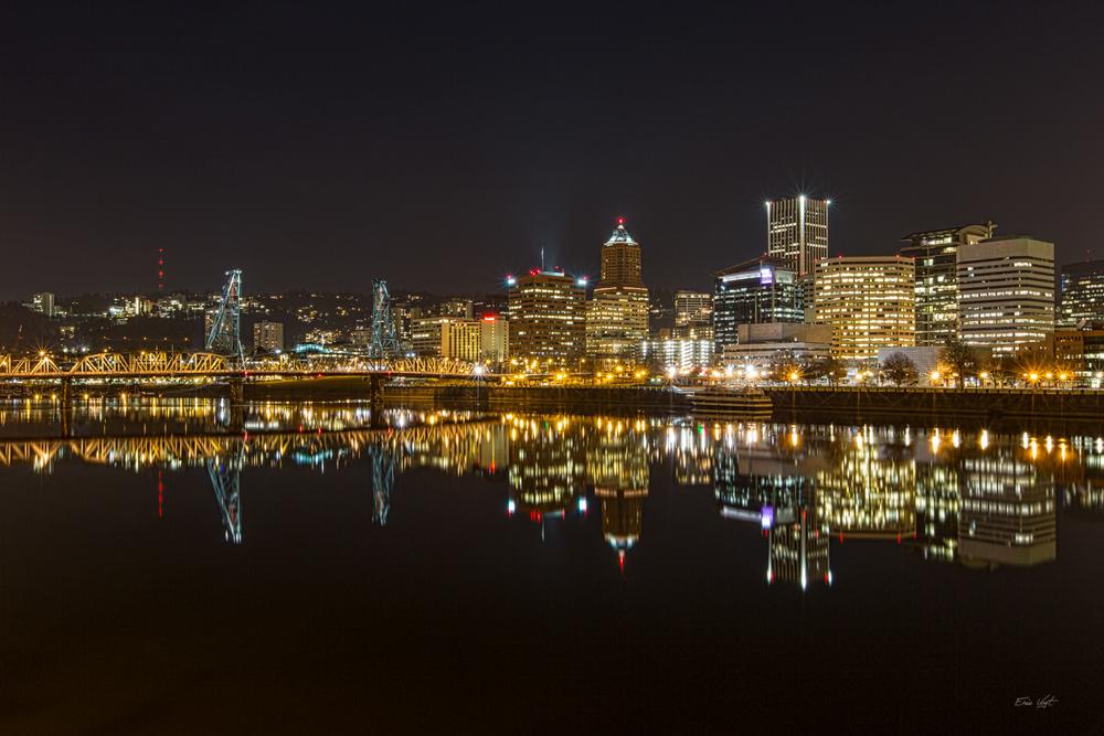 Portland Night Skyline