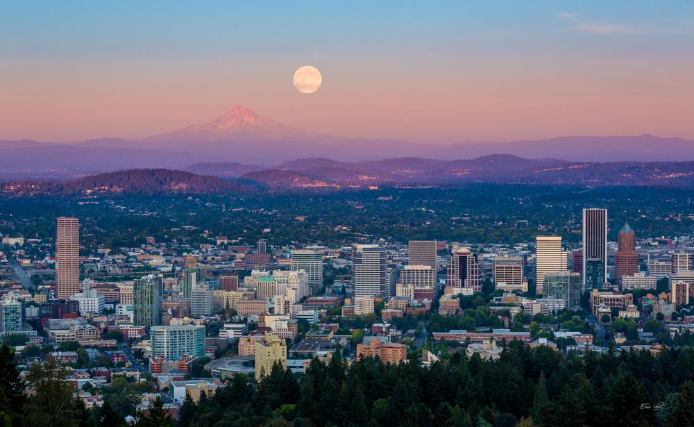 Full Moon Over Portland