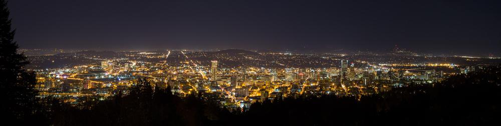 Portland Night Cityscape
