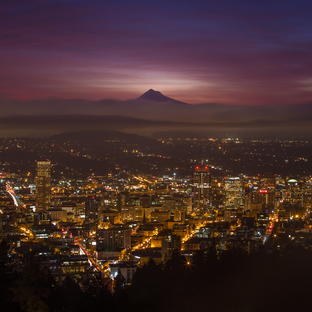 Mt Hood in the Spotlight